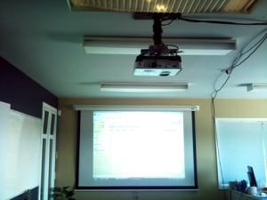 New Projector in Training Room #1