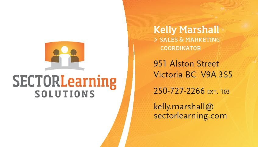New branded business cards and titles sector learning solutions and congratulations colourmoves