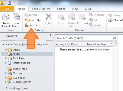 Outlook2010-Junk